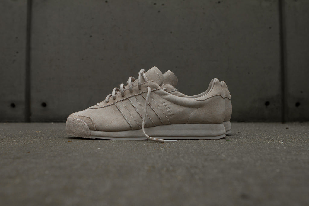 Adidas Originals x Woodie White Samoa 'Pigskin Pack' - Vapour Grey Side