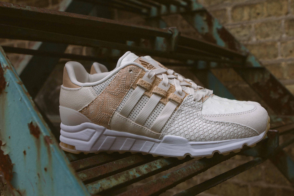 "Adidas Originals EQT ""Luxe Oddity"" Pack on Stairs - Side Profile"