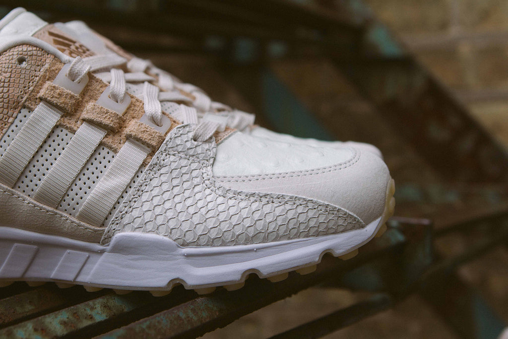 "Adidas Originals EQT ""Luxe Oddity"" Pack on Stairs - Closeup"