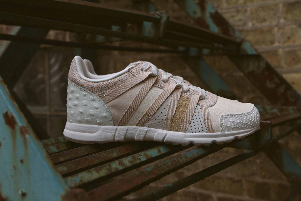 "Adidas Originals Women's EQT ""Luxe Oddity"" Pack on Stairs - Side Profile"