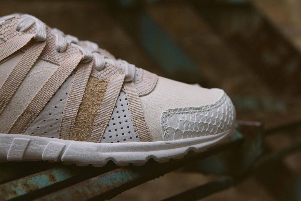 "Adidas Originals Women's EQT ""Luxe Oddity"" Pack on Stairs - Closeup"