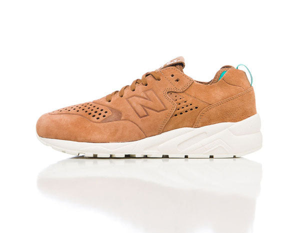 New Balance Deconstructed 580 in Tan Side Studio Shot
