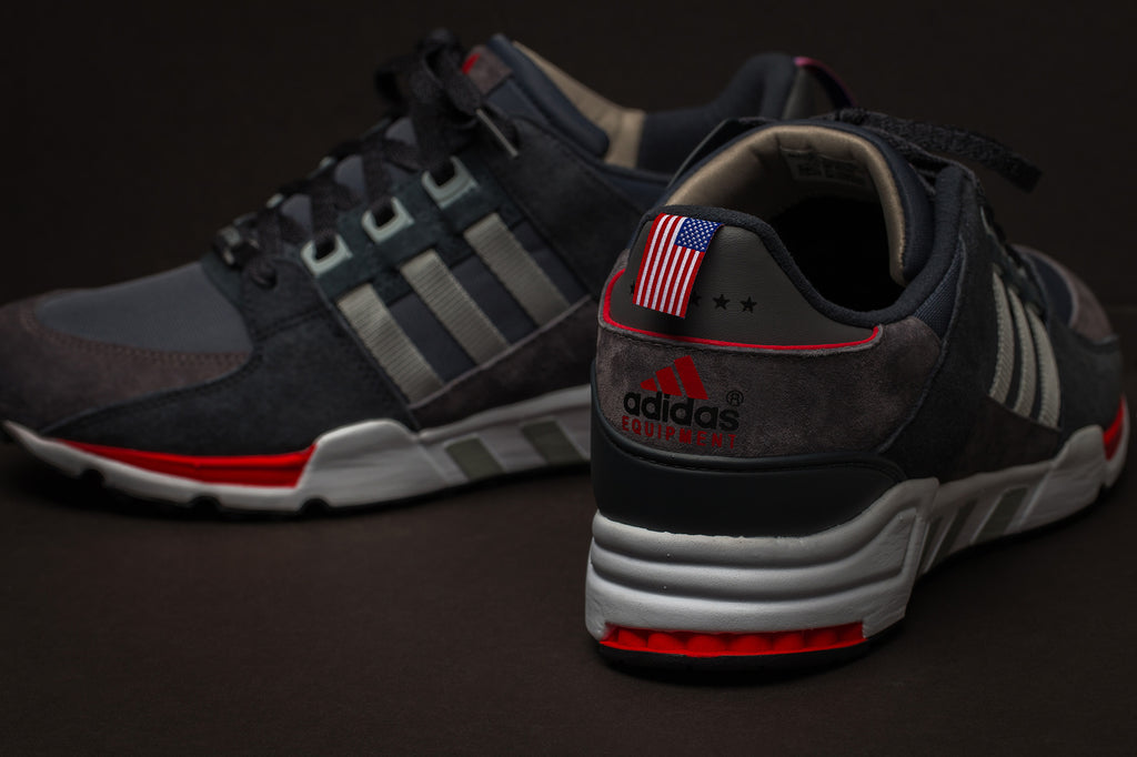 adidas EQT Running Support Boston Back View Black Laces