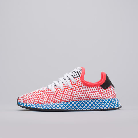 adidas Deerupt Runner in Red/Blue/Black - Notre