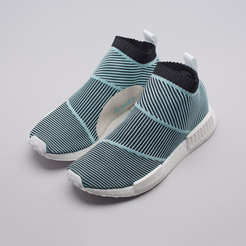 adidas NMD CS1 Parley Primeknit in Core Black/Blue - Notre