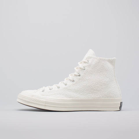 Converse Chuck Taylor All Star 70 Hi Reverse French Terry in Egret - Notre
