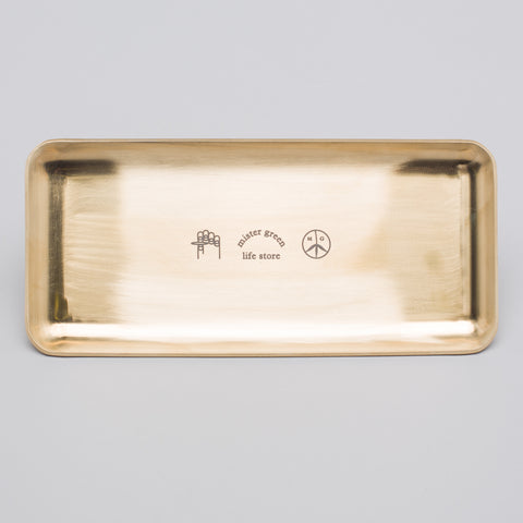 Mister Green Rolling Tray in Brass - Notre