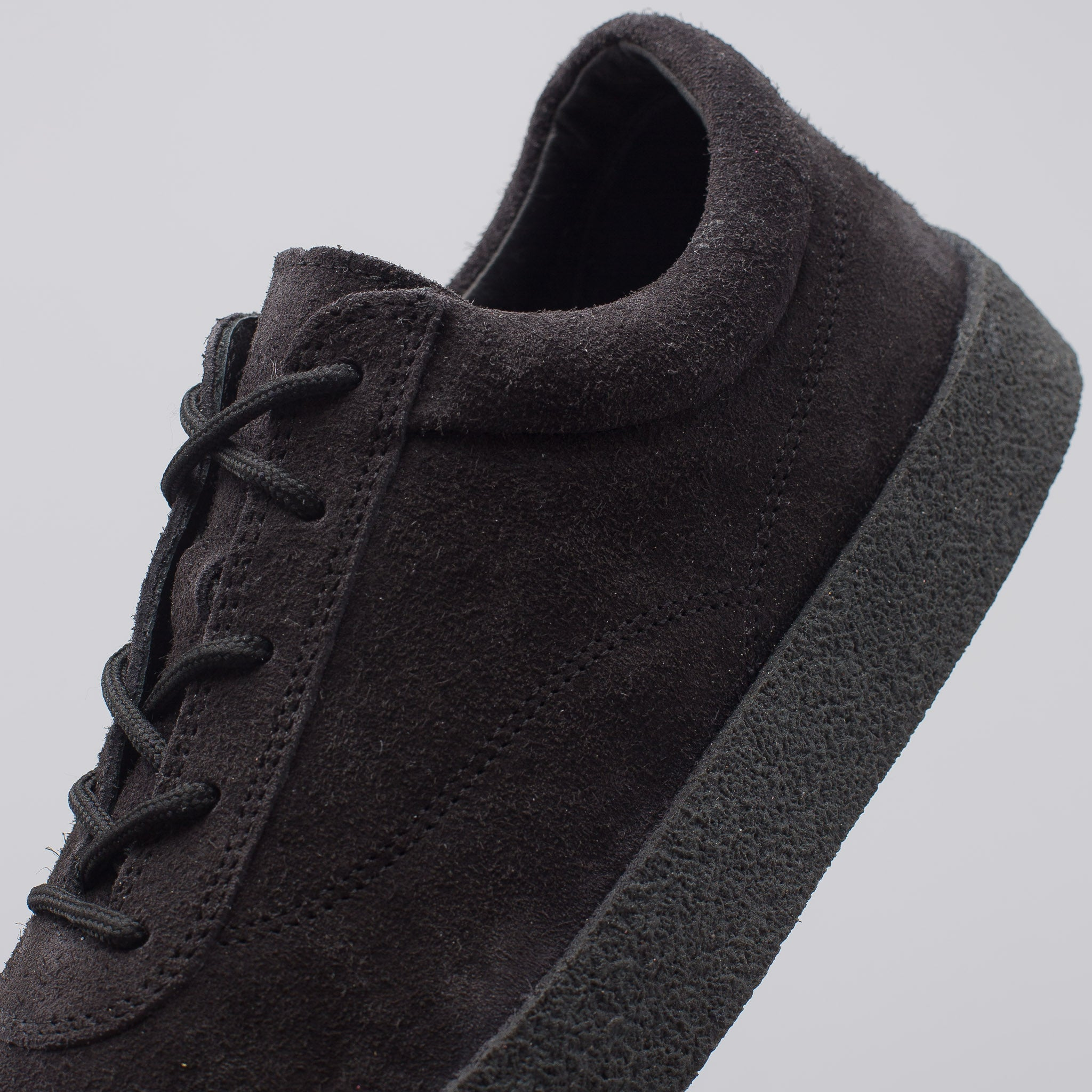 Crepe Sneaker in Graphite Shaggy Suede