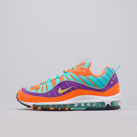 Nike Air Max 98 QS in Cone/Tour Yellow/Grape - Notre