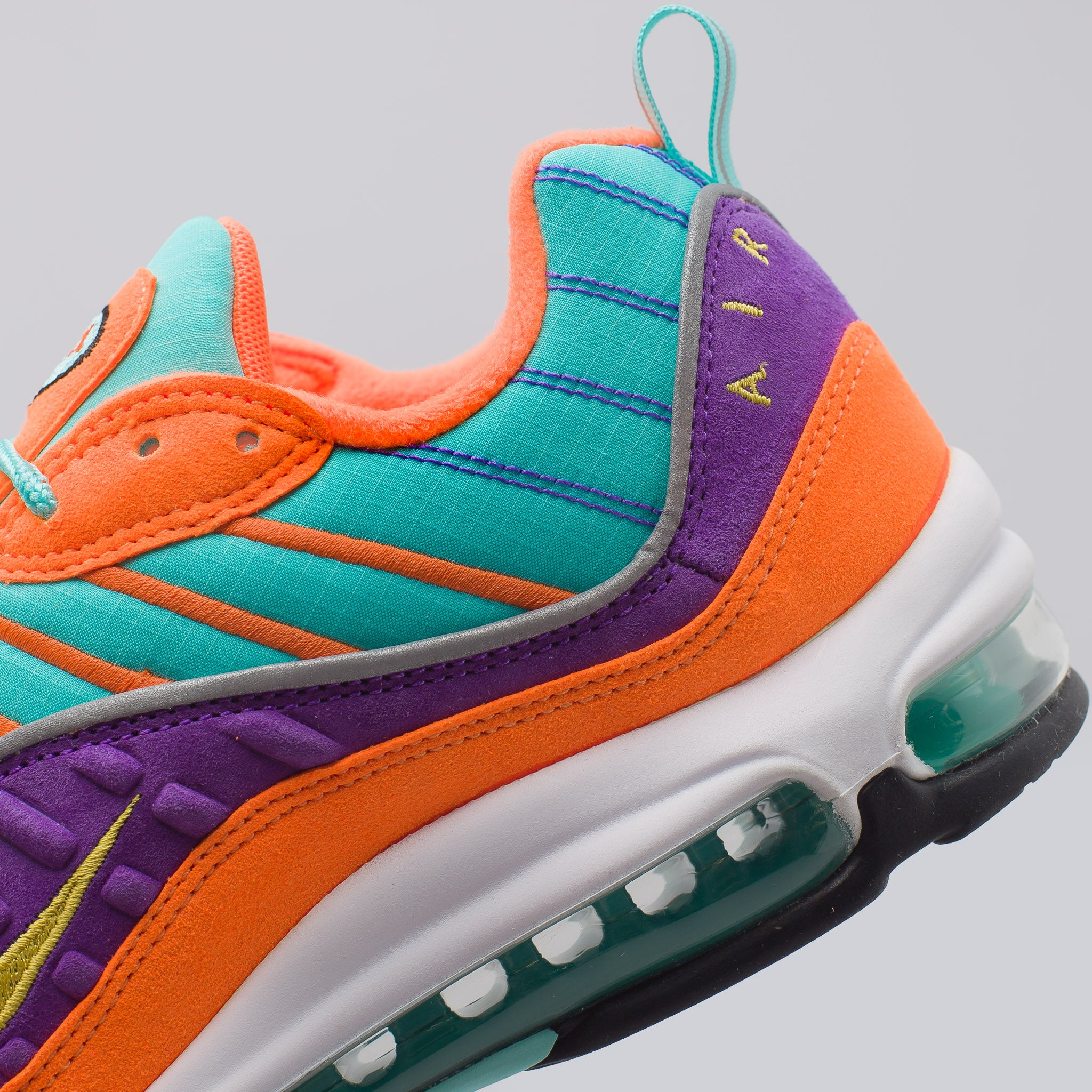 Air Max 98 QS in Cone/Tour Yellow/Grape