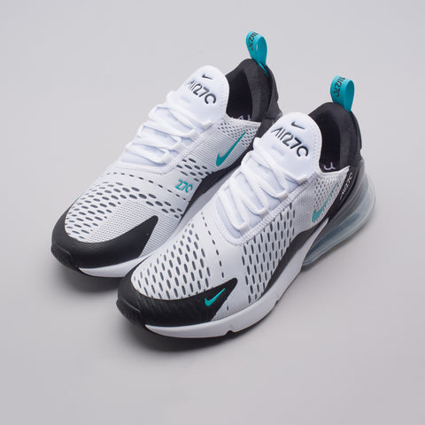 Nike Air Max 270 in White/Black/Cactus - Notre