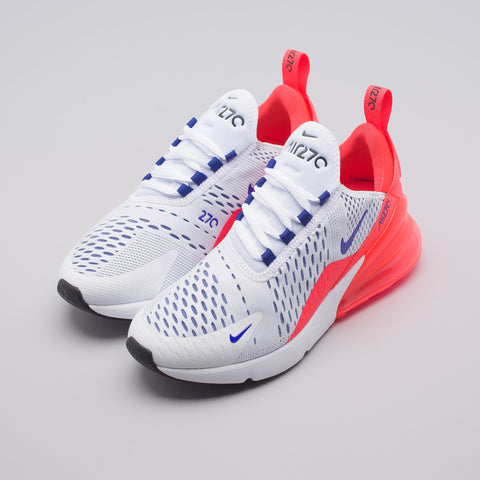 Nike Women's Air Max 270 in White/Ultramarine - Notre