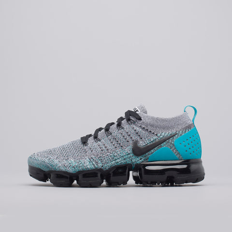 Nike Vapormax Flyknit 2 in White/Black/Cactus - Notre