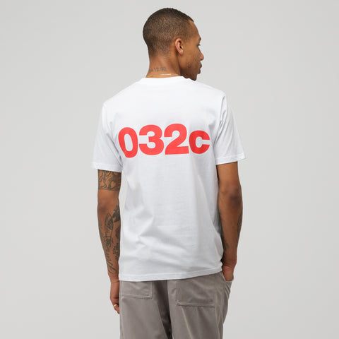 032C COSMIC WORKSHOP Logo T-Shirt in White - Notre