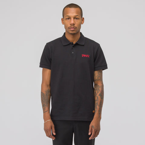 032C Embroidered Polo Shirt in Black - Notre