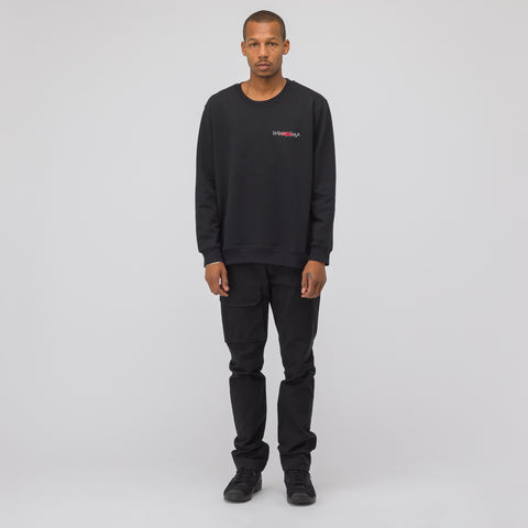 032C Embroidered Sweatshirt in Black - Notre