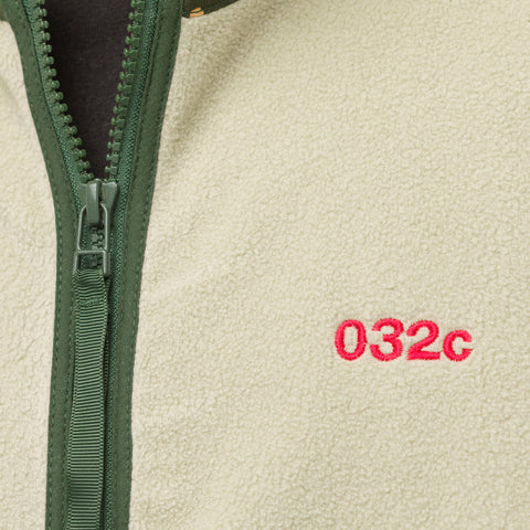 032C Fleece Jacket in Cement Green - Notre