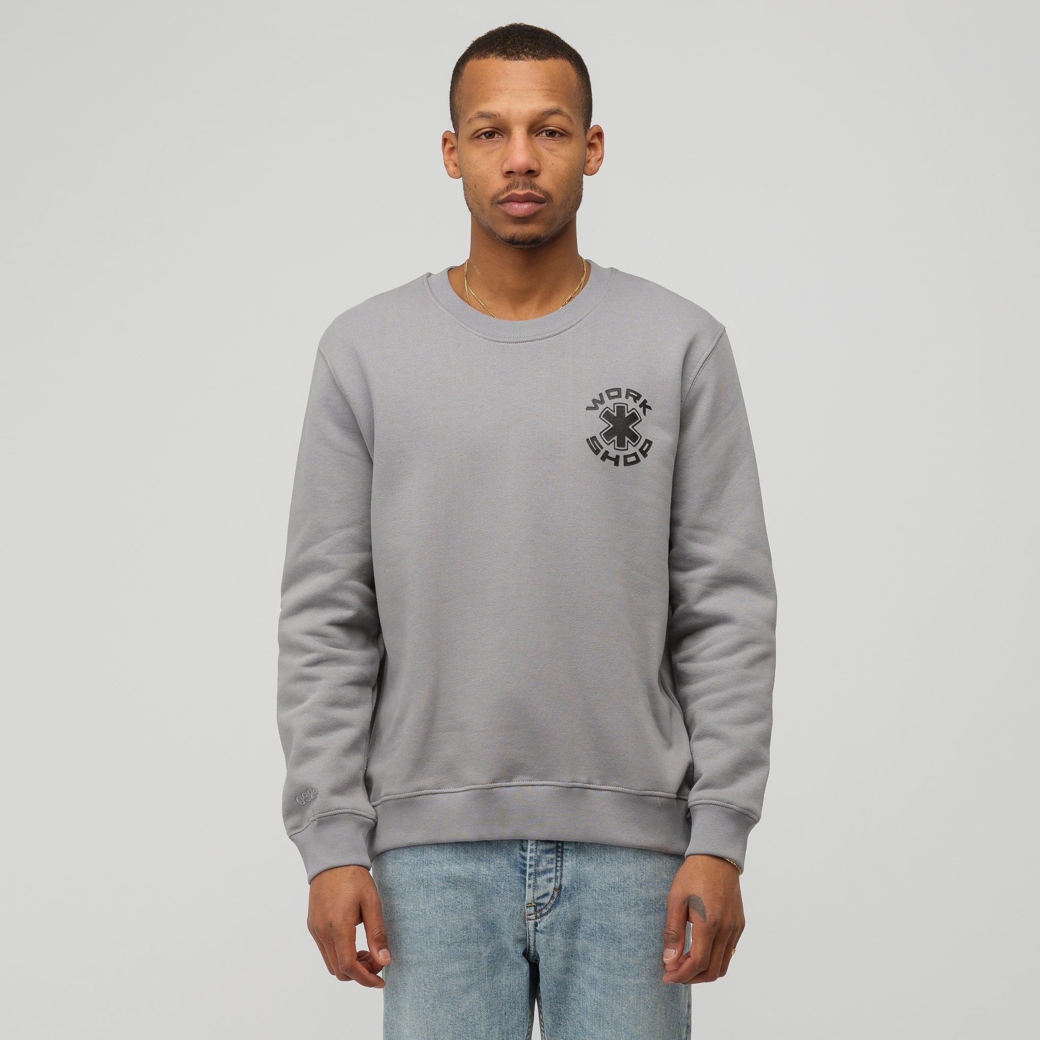 COSMIC WORKSHOP Gear Crewneck Sweatshirt in Grey