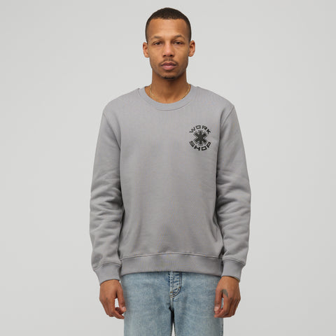 032C COSMIC WORKSHOP Gear Crewneck Sweatshirt in Grey - Notre