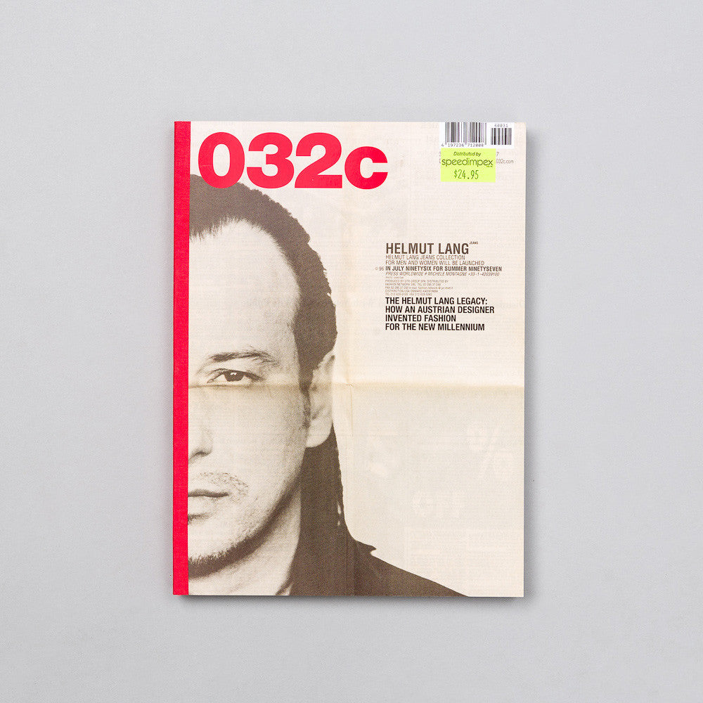 032C 032C Issue 31th 'Helmut Lang' - Notre