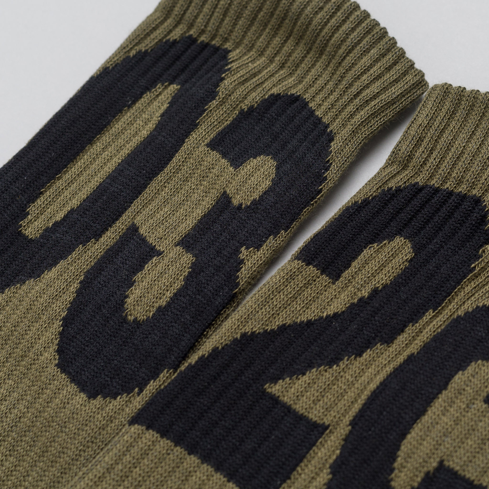 032C Socks in Hunter Green/Black