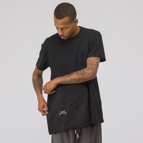 A-COLD-WALL* ACW Zip Pocket T-Shirt in Black - Notre
