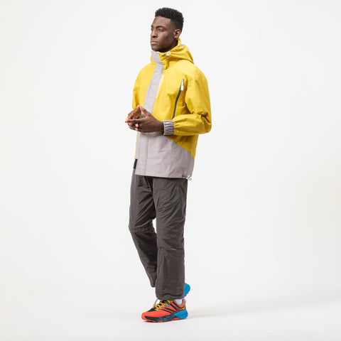A-COLD-WALL* Asymmetrical Hooded Sweatshirt with Visor in Yellow - Notre