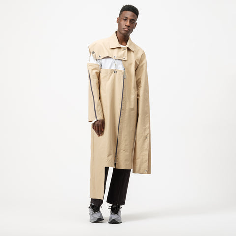 A-COLD-WALL* Asymmetrical Raincoat in Beige - Notre