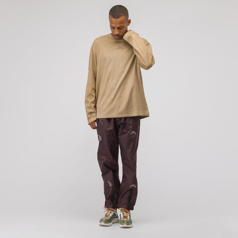 A-COLD-WALL* ACW Bracket Logo Longsleeve T-Shirt in Tan - Notre