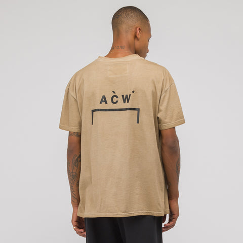 A-COLD-WALL* ACW Bracket Logo T-Shirt in Tan - Notre