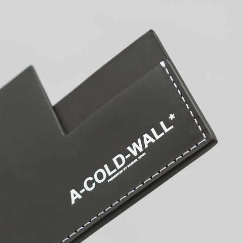 A-COLD-WALL* Right Angle Cardholder in Black - Notre