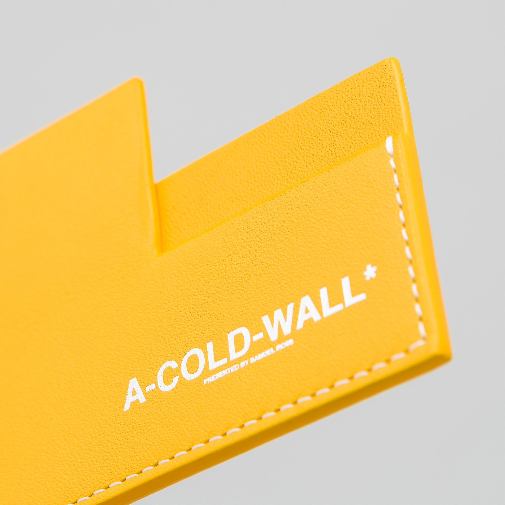 Right Angle Cardholder in Amber