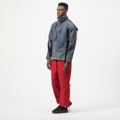 A-COLD-WALL* Funnel Neck Jacket with Hoodie in Blue - Notre