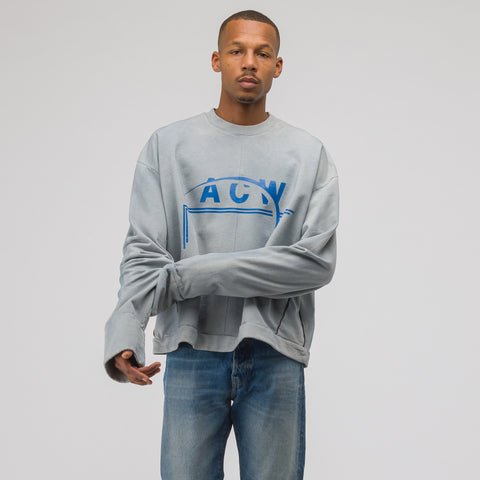 A-COLD-WALL* ACW Logo Sweatshirt in Slate - Notre