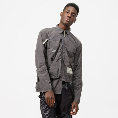 A-COLD-WALL* Long Sleeve Top Zip Pocket T-Shirt in Grey - Notre