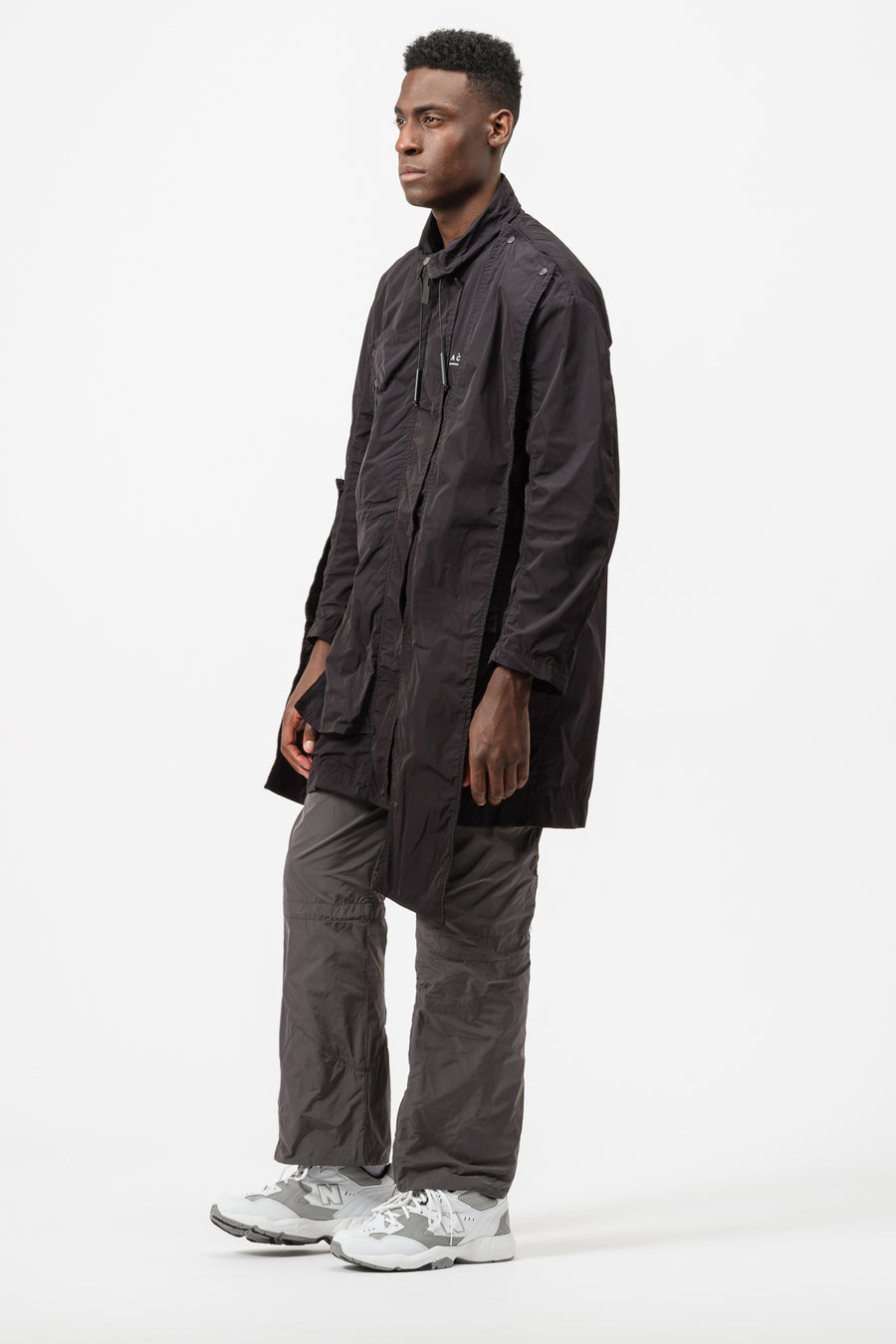 A-COLD-WALL* Multipanel Coat in Black - Notre