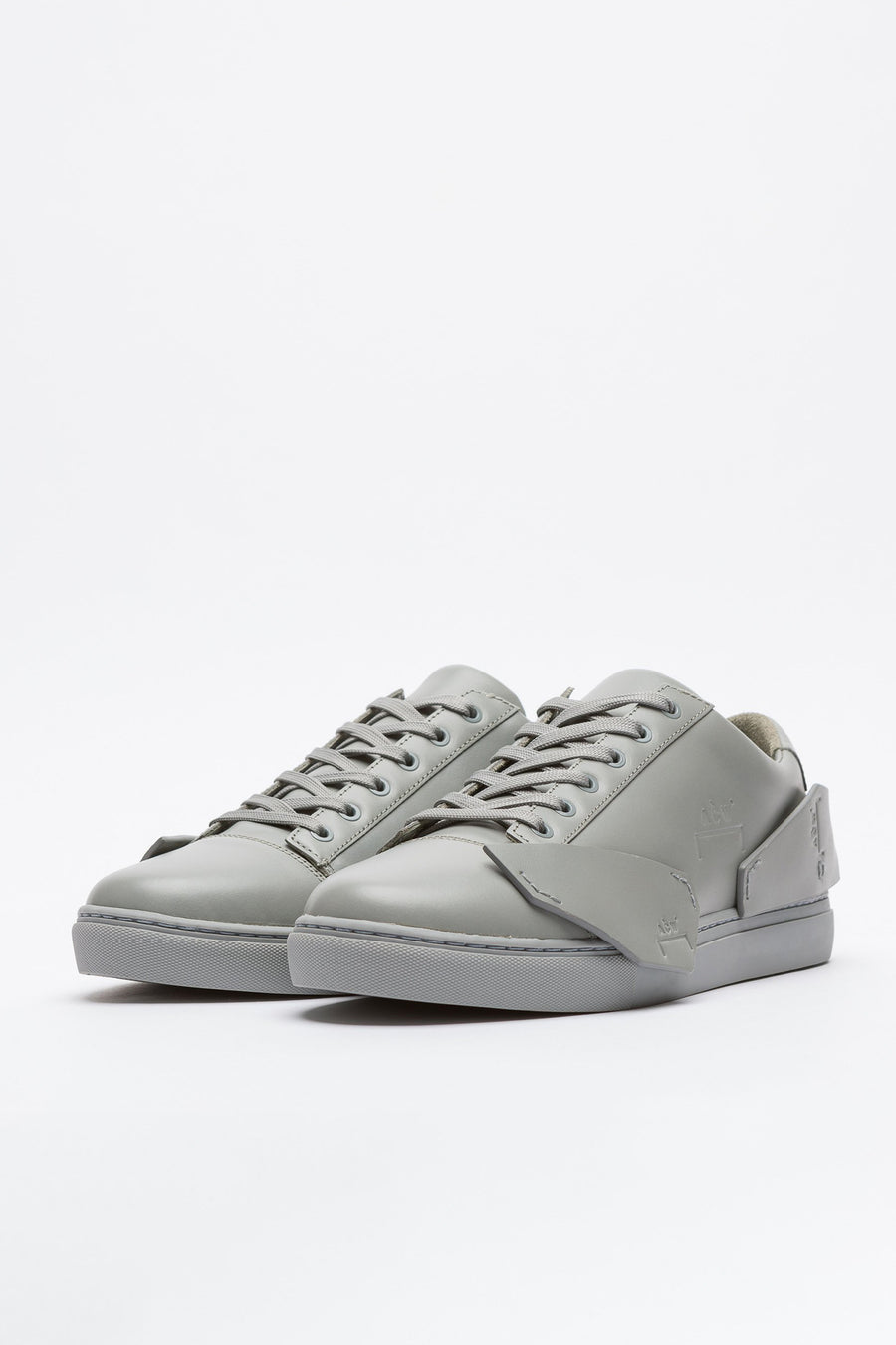 A-COLD-WALL* Multipanel Leather Sneaker in Slate - Notre