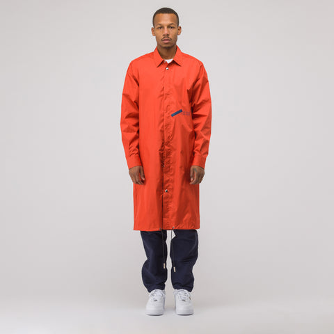 A-COLD-WALL* National Gallery Drawstring Coat in Orange - Notre