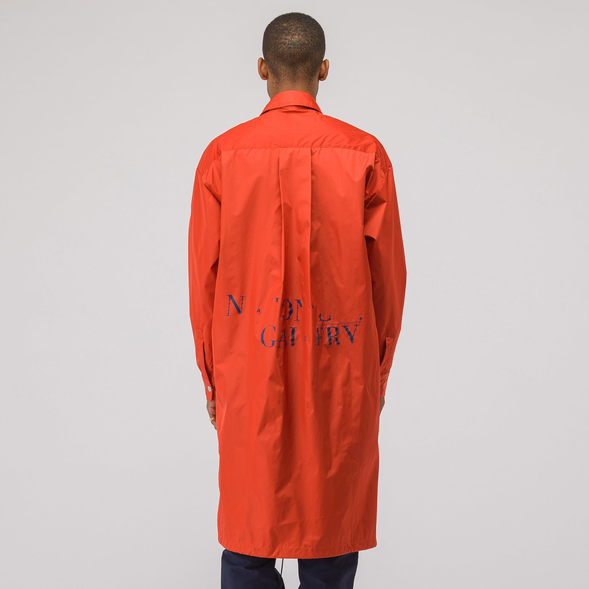 National Gallery Drawstring Coat in Orange