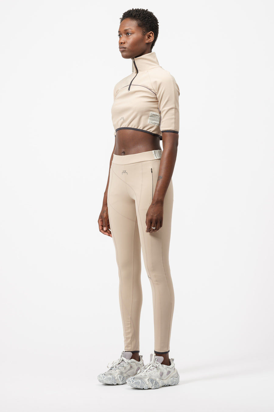 A-COLD-WALL* Overlock Leggings in Cream - Notre