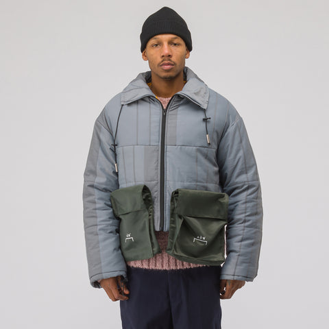 A-COLD-WALL* Puffer Coat with Detachable Pockets in Slate - Notre