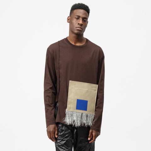 A-COLD-WALL* Removable Albers Long Sleeve T-Shirt in Wine/Beige - Notre