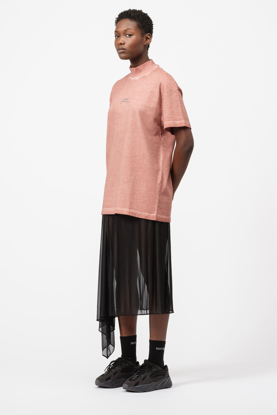 A-COLD-WALL* Rib Neck T-Shirt in Rust - Notre
