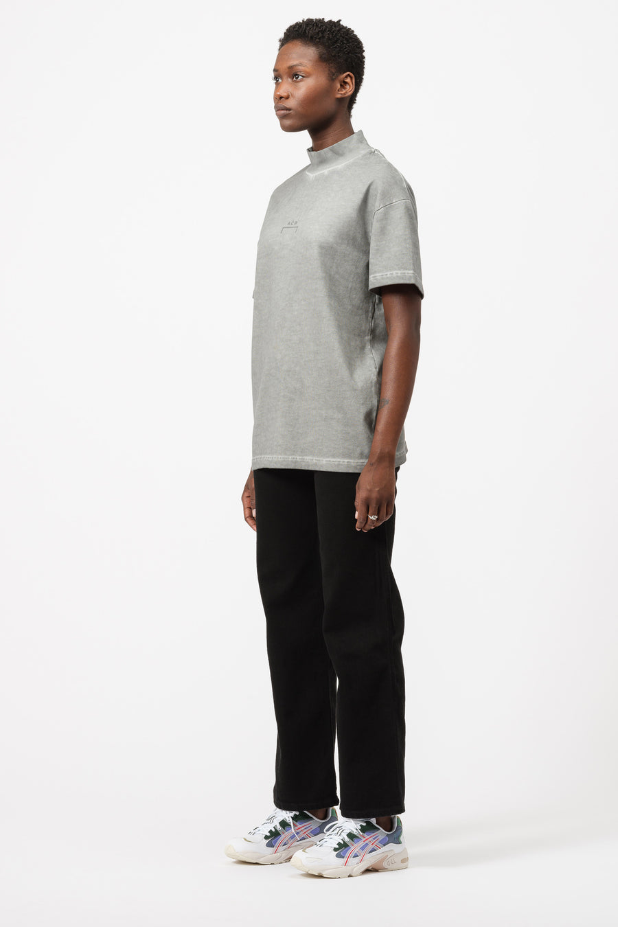 A-COLD-WALL* Rib Neck T-Shirt in Slate - Notre