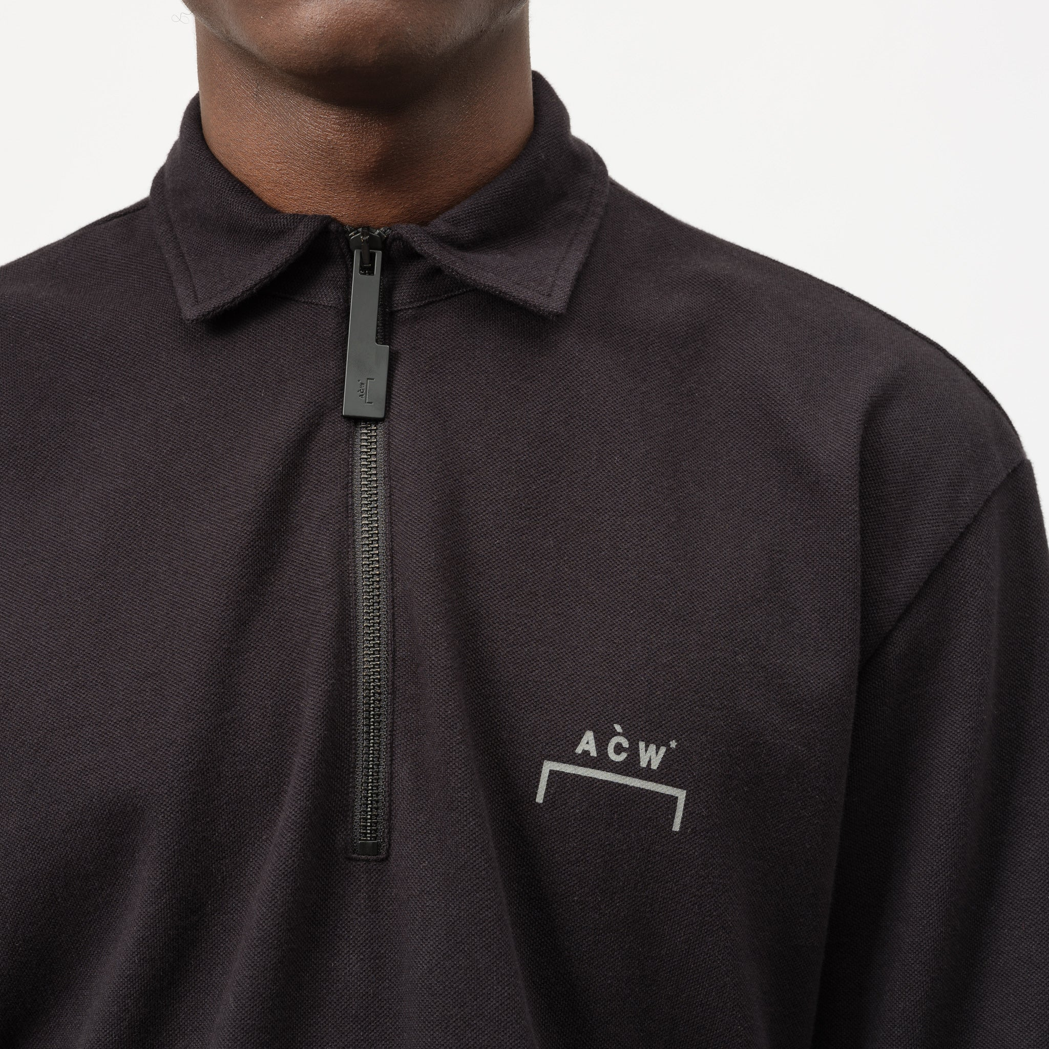 Short Sleeve Polo in Black