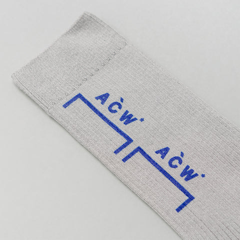 A-COLD-WALL* ACW Bracket Logo Socks in Slate - Notre