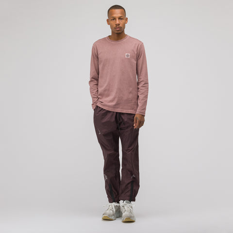 A-COLD-WALL* Nylon Calf Zip Trousers in Burgundy - Notre