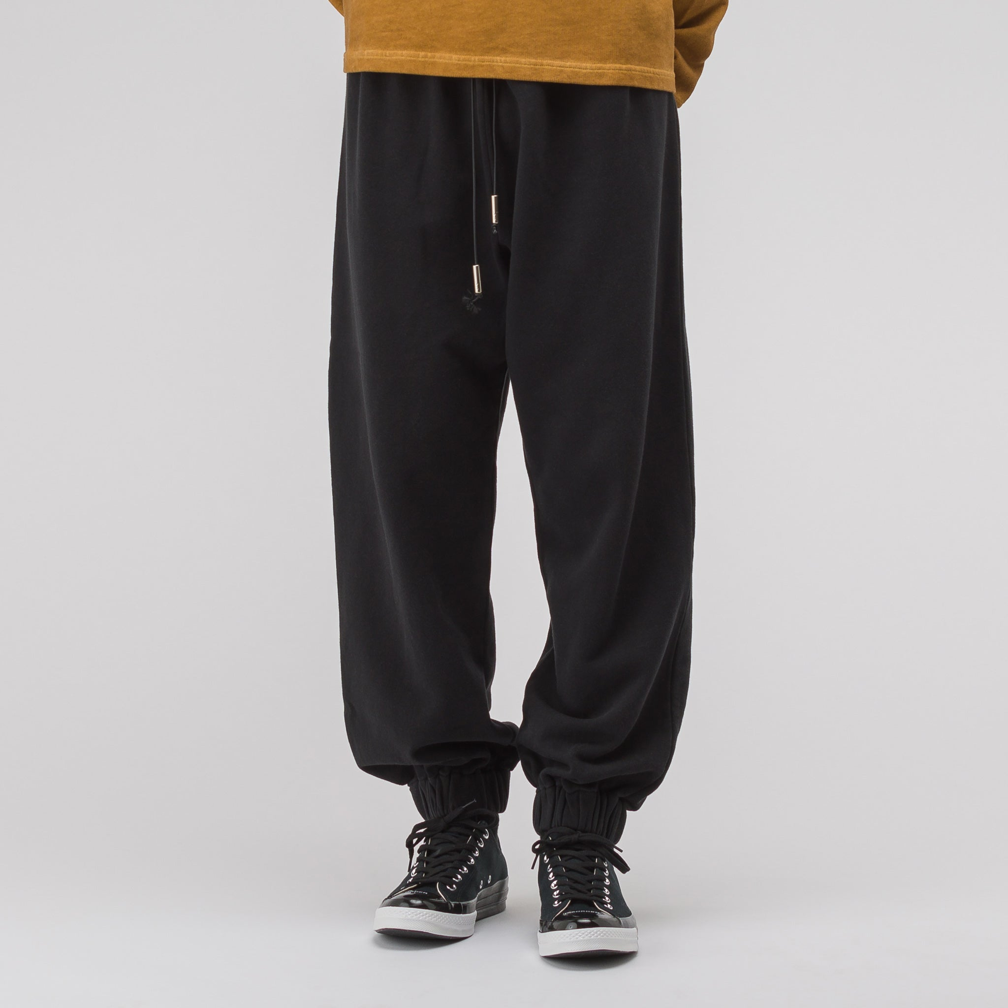 Cotton Track Pants in Black