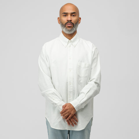 Acne Studios Seiji Vintage Shirt in Cold White - Notre