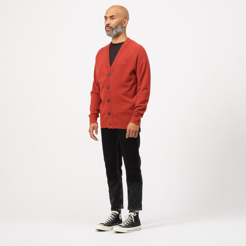 Acne Studios Neve Raglan Cardigan in Brick Red - Notre